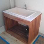 タイル張りの洗面台